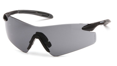 Pyramex Intrepid II Safety Glasses ~ Smoke Lens oblique view