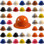 MSA Skullgard Full Brim Hard Hats with RATCHET Suspensions