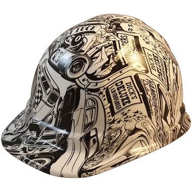 Hot Rod Hydro Dipped Hard Hats ~ Oblique View