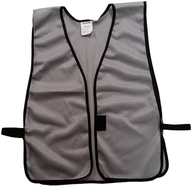 Light Gray Soft Mesh Plain Safety Vest