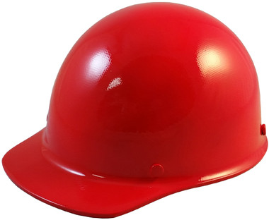 Skullgard Cap Style With Ratchet Suspension Red - Oblique View