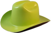 Outlaw Cowboy Hardhat with Ratchet Suspension Hi-Viz Lime  oblique