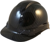 Pyramex Ridgeline Cap Style Hard Hat Shiny Black Graphite Pattern - Oblique View
