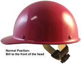 Skullgard Cap Style With Swing Suspension Raspberry - Swing Suspension in Normal Position