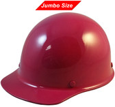 MSA Skullgard  (LARGE SHELL) Cap Style Hard Hats with Ratchet Suspension - Raspberry  Color - Oblique View