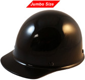 MSA Skullgard  (LARGE SHELL) Cap Style Hard Hats with Ratchet Suspension - Black ~ Oblique View