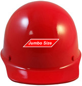 MSA Skullgard (LARGE SHELL) Cap Style Hard Hats with STAZ ON Suspension - Red - Front View