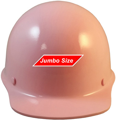 MSA Skullgard  (LARGE SHELL) Cap Style Hard Hats with STAZ ON Suspension - Light Pink   - Oblique View