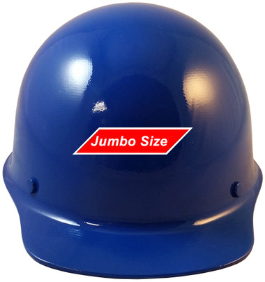 MSA Skullgard  (LARGE SHELL) Cap Style Hard Hats with STAZ ON Suspension - Blue  - Front View