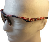 Gateway Old Glory Camo Patriotic Safety Glasses with Clear Lens - Close Up Detail