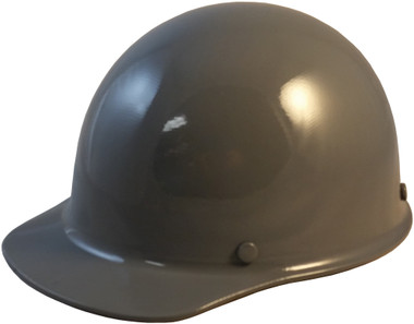 Skullgard Cap Style With Ratchet Suspension Gray - Oblique View
