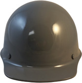 MSA Skullgard Cap Style With STAZ ON Suspension Gray - Front View