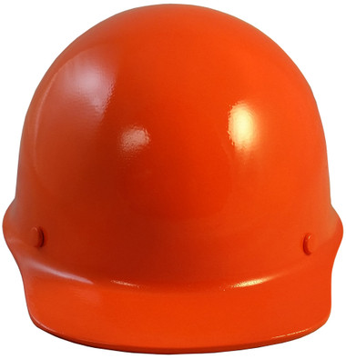 MSA Skullgard Cap Style With STAZ ON Suspension Orange - Front View