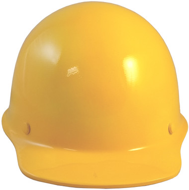 MSA Skullgard Cap Style With STAZ ON Suspension Yellow - Front View