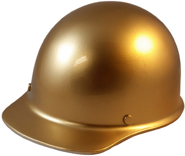 MSA Skullgard Cap Style With STAZ ON Suspension Gold - Oblique View