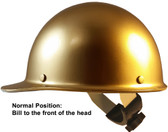 Skullgard Cap Style With Swing Suspension Gold - Swing Suspension in Normal Position