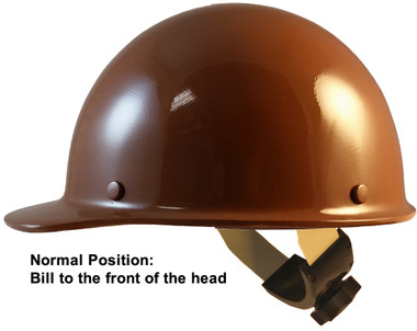 Skullgard Cap Style With Swing Suspension Brown - Swing Suspension in Normal Position