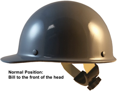 Skullgard Cap Style With Swing Suspension Gray - Swing Suspension in Normal Position