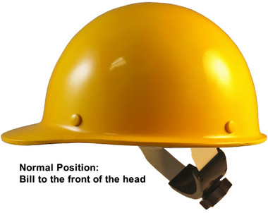 Skullgard Cap Style With Swing Suspension Yellow - Swing Suspension in Normal Position