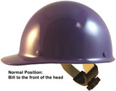 Skullgard Cap Style With Swing Suspension Purple - Swing Suspension in Normal Position