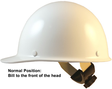 Skullgard Cap Style With Swing Suspension White  - Swing Suspension in Normal Position