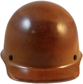 MSA Skullgard Cap Style With STAZ ON Suspension - Natural Tan - Front View