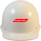 MSA Skullgard (LARGE SHELL) Cap Style Hard Hats with STAZ ON Suspension - White - Front View