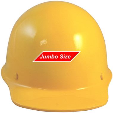 MSA Skullgard (LARGE SHELL) Cap Style Hard Hats with STAZ ON Suspension - Yellow - Front View
