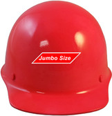 MSA Skullgard (LARGE SHELL) Cap Style Hard Hats with STAZ ON Suspension - Neon - Front View