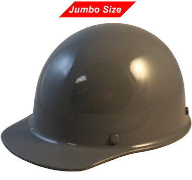 MSA Skullgard (LARGE SHELL) Cap Style Hard Hats with Ratchet Suspension - Gray - Oblique View