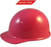 MSA Skullgard (LARGE SHELL) Cap Style Hard Hats with Ratchet Suspension - Hot Pink - Oblique View