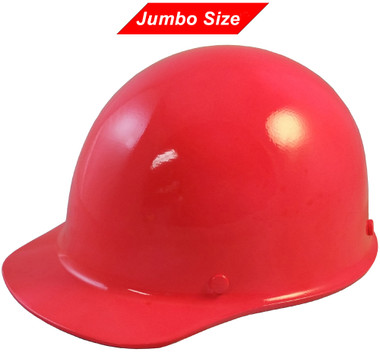 MSA Skullgard (LARGE SHELL) Cap Style Hard Hats with Ratchet Suspension - Neon - Oblique View