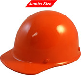 MSA Skullgard (LARGE SHELL) Cap Style Hard Hats with Ratchet Suspension - Orange - Oblique View