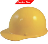 MSA Skullgard (LARGE SHELL) Cap Style Hard Hats with Ratchet Suspension - Yellow  - Oblique View