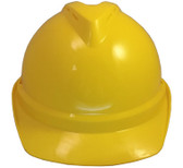 MSA Advance yellow Vented Hard Hats with Staz On Suspensions front