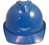 MSA Advance Blue Vented Hard Hats with Staz On Suspensions Front