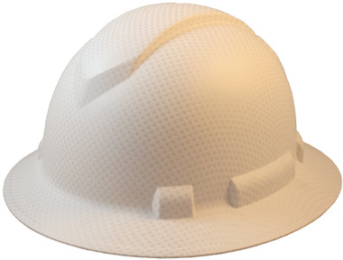 Pyramex Ridgeline Full Brim Style Hard Hat with White Graphite Pattern - Oblique View