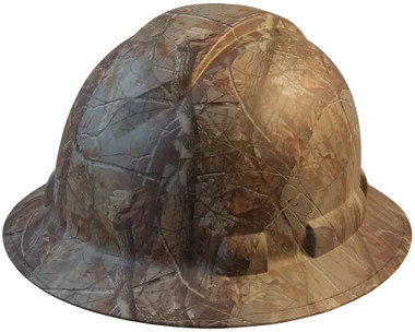 Pyramex Ridgeline Full Brim Style Hard Hat with Camouflage Pattern - Oblique View