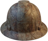 Pyramex Ridgeline Full Brim Style Hard Hat with Camouflage Pattern - Front View