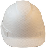 Front View Pyramex Ridgeline Cap Style Hard Hat with White Graphite Pattern