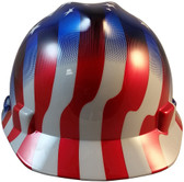 MSA V-Gard American Stars and Stripes Hard Hats - Front View