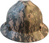 MSA FULL BRIM ACU Design Camouflage Hard Hats  - Front View