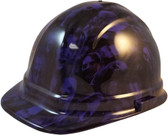 Purple Zombie Cap Style Hydro Dipped Hard Hats  - Oblique View