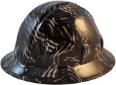 Covert USA Flag Hydro Dipped Hard Hats Full Brim Style - Oblique View
