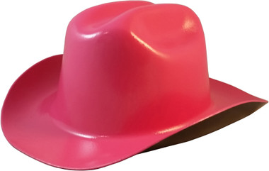 Outlaw Cowboy Hardhat with Ratchet Suspension Hot Pink - Oblique View