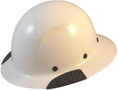 DAX Fiberglass Composite Hard Hat - Full Brim White - Oblique View