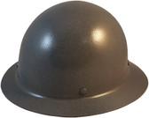 MSA Skullgard Full Brim Hard Hat with STAZ ON Suspension - GUNMETAL - Oblique View
