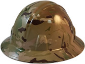 MultiCam Camo Hydro Dipped Hard Hats Full Brim Style - Oblique View