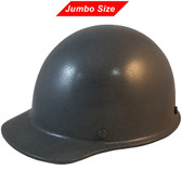 MSA Skullgard (LARGE SHELL) Cap Style Hard Hats with Ratchet Suspension - Textured GUNMETAL  - Oblique View