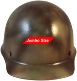 MSA Skullgard (LARGE SHELL) Cap Style Hard Hats with STAZ ON Suspension - Textured CAMO - Front View